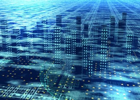 オフィス街 未来 近未来 CG ビジネス IT テクノロジー サイバー テクノロジー 青 ブルー blue building 産業 企業 会社 会社案内 背景 背景素材 テクスチャー テクスチャ background texture future 都市 都会 経済 国際的 世界 ニュース