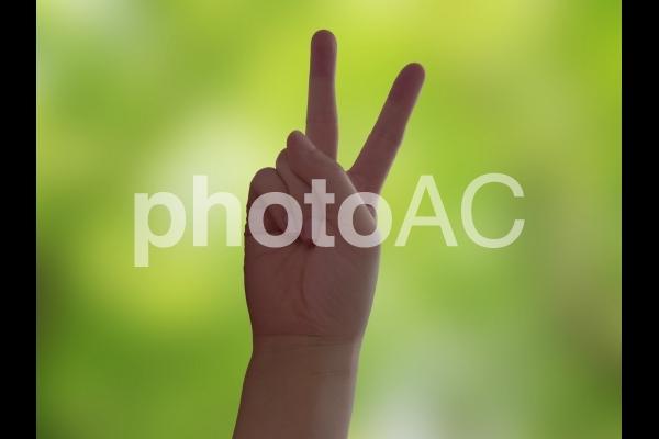 ピース Vサインの写真