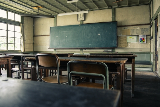 古い 教室 ごちそうさん 映画 舞台 撮影 黒板 岡山 尋常小学校