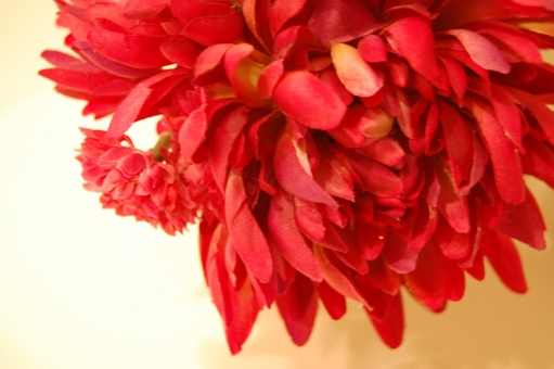 花 造花 フェイクフラワー フラワー インテリア 瓶 赤 赤い ダリア