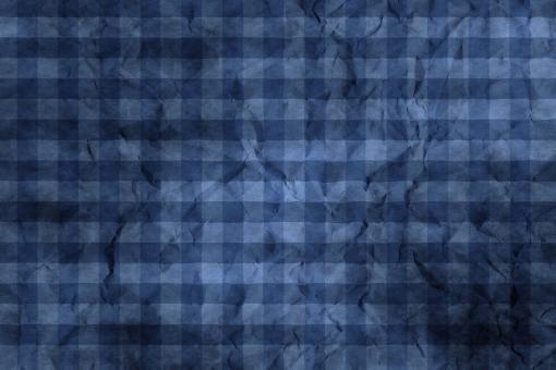 和紙 色紙 台紙 紙 ちぢれ ゴワゴワ 凸凹 テクスチャー 背景 背景画像 ファイバー 繊維 しわ くしゃくしゃ チェック ギンガムチェック 格子 格子模様 青 ブルー 群青 ウルトラマリン 紺色 藍 藍色 黒 ブラック