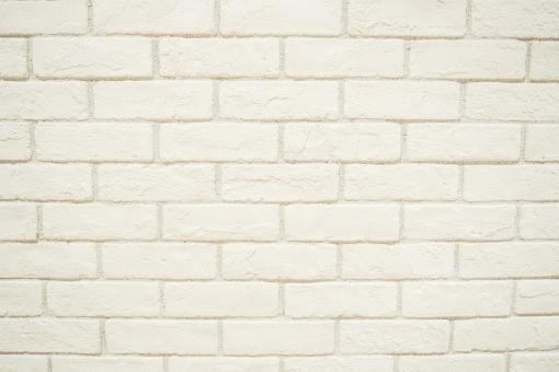 白い ブロック 壁 レンガ ホワイト ペンキ 背景 壁紙 テクスチャ 明るい 洋風 北欧 爽やか 南プロバンス 地中海 ギリシャ 塀 ウォール インテリア エクステリア