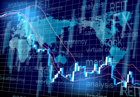 ワールドマーケット株価チャートの推移の写真