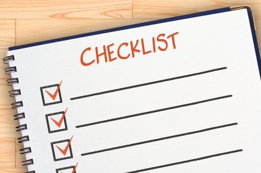 チェックリストのイメージの写真