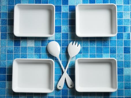 ホワイト ホーロー 合羽橋 長方形 スプーン フォーク 食器