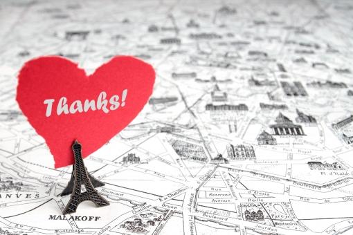 ハート バレンタイン 2月14日 ありがとう 感謝 お礼 一言 伝言 気持ち 単語 英文字 地図 エッフェル塔 パリ フランス