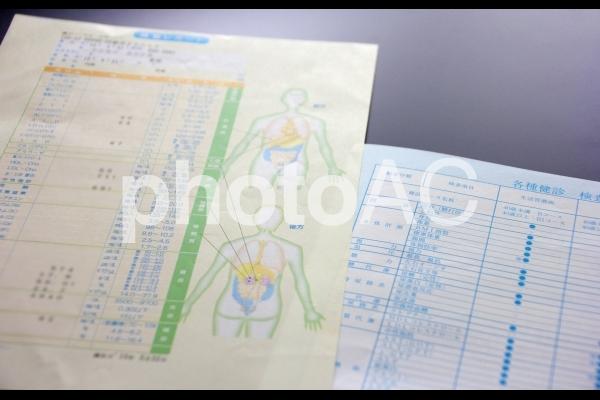 健康診断 結果の写真