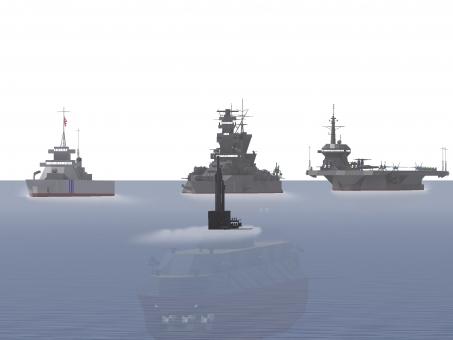 空母 自衛隊 いずも 海 艦船 オスプレイ 潜水艦