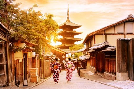 京都 夕焼けの写真