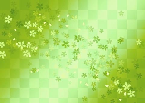 日本 和風 背景 バックグラウンド テクスチャー 市松 格子 伝統模様 文様 サクラ さくら 年賀状 年末年始 慶事 お正月 小正月 お祝い 行事 祝日 めでたい 華やか 雅やか 地紋
