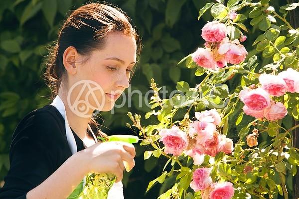 庭園 女性6の写真