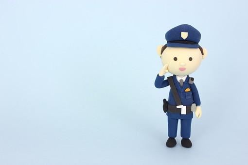 クレイ クレイアート クレイドール ねんど 粘土 クラフト 人形 アート 立体イラスト 粘土作品 かわいい 人物 防犯 警察 警察官 警官 お巡りさん おまわりさん 安全 パトロール 仕事 働く 助ける 救助 男性