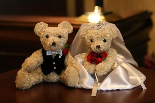 結婚 結婚式 ウェルカムボード 花嫁 花婿 ウェディング パーティ 家 東京 クマ 熊 ぬいぐるみ お嫁さん