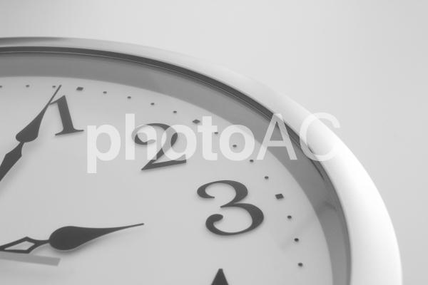 時計 モノクロの写真