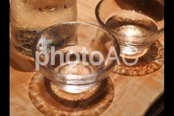 ガラスのお猪口の写真