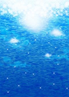 かがやき フラッシュ 海 water sea キラキラ きらめき テクスチャ 光 光彩 背景 表紙 バック バックグラウンド background パンフレット チラシ カタログ ポスター 夏 エコ エコロジー 自然 青 ブルー blue テンプレート 深海 海面 水面