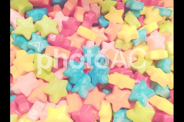 星形のカラフルキャンディーの写真