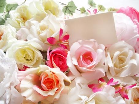 花 フラワー メッセージ カード お祝い プレゼント 感謝 誕生日 卒業 入学 出産 結婚 ブライダル 母の日 ホワイトデー 女性的 美容 手紙 ありがとう おめでとう 華やか 鮮やか 幸せ ギフト アレンジメント ウエディング ピンク オレンジ 薔薇 バラ