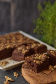 ブラウニー チョコレート ケーキ くるみ walnut chocolate cake brownie