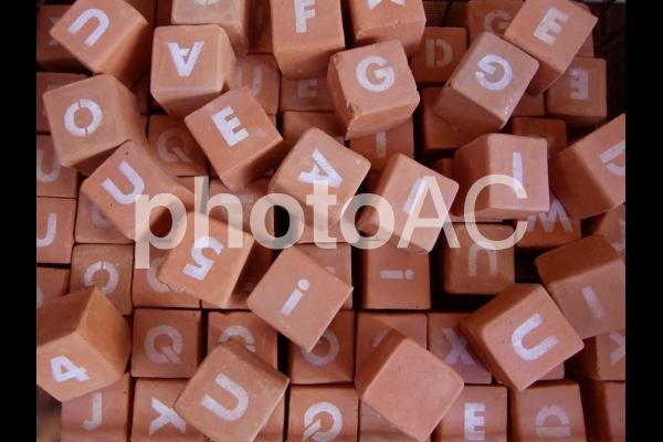 アルファベットのキュービックの写真