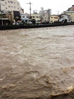避難 大雨 台風 増水 濁流 災害 宇都宮 栃木 9月 15 田川