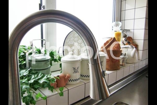 台所の蛇口の写真