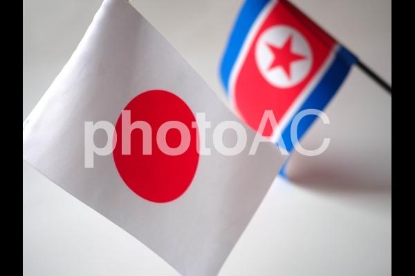 日本と北朝鮮の写真