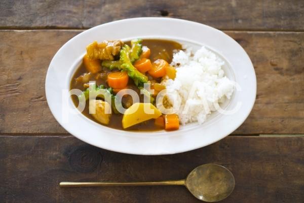 夏野菜カレーライスの写真