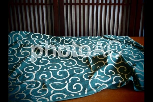 唐草模様の風呂敷の写真