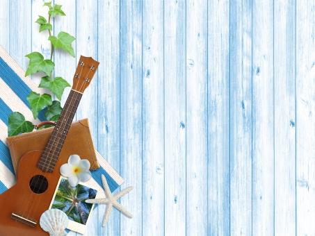 夏 背景 背景素材 バックグラウンド サマー ウクレレ ヤシの木 summer ツタ ヒトデ 貝殻 貝 トランク かばん 旅行カバン リゾート 夏のイメージ リフレッシュ 南国 南国イメージ 旅行 バカンス 休暇 休み ホリデー 自然素材 素材 イメージ 気分転換 鞄 季節 四季 トロピカル ヤシ 椰子 椰子の木 写真 ピクチャー ポラロイド プルメリア 花 板塀 塀 ウォール 壁 ウッド 木目 青 青い木目 涼しい 涼しげ 夏らしい 暑い 暑中見舞い テキストスペース テキスト 植物 フラワー 楽器 ハワイ ハワイアン 南の島 イメージ画像 雑貨 コラージュ