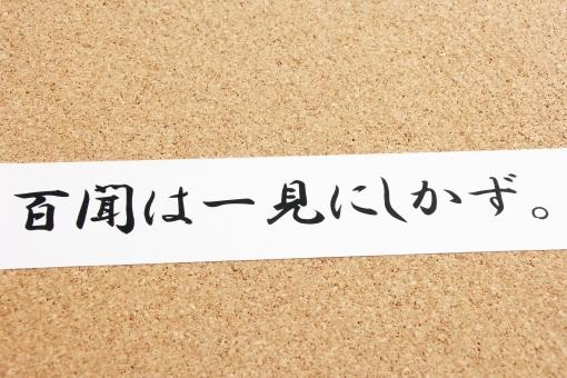 百聞 一見 聞く 見る 知識 経験 体験 ことわざ 格言 名言 故事 日本語 言葉 コトバ 背景 素材 背景素材 自分の目 他人の意見 壁紙 仕事 勉強 学習 人生 生き方 思考 ビジネス ノウハウ 考える テクニック