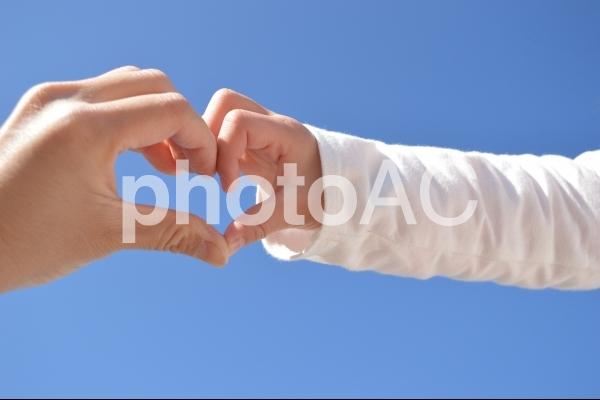 ママと子供の手の写真