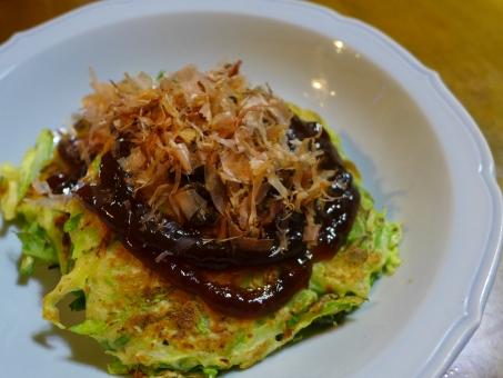 自然薯 お好み焼き 粉物 おうちごはん 食卓 関西 鰹節 かつおぶし ソース japan japanesefood wildyam yam okonomiyaki