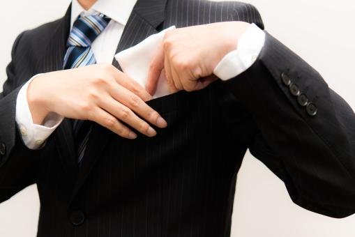 ハンカチ ビジネス ビジネスマン 婚カツ パーティー 会社員 婚活 デート 式典 会社員 男性 正装 背広 ネクタイ スーツ 胸 仕事 来賓 関係者 エリート 外資系 かっこいい 若い 営業