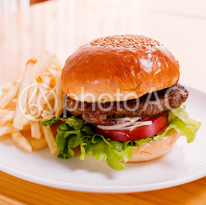 ハンバーガーセット1の写真