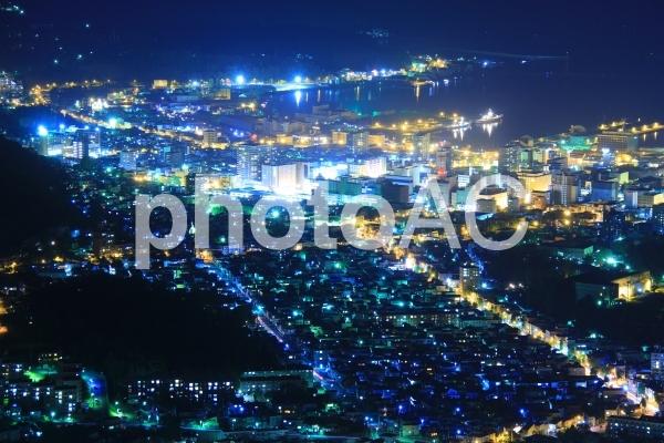 天狗山の夜景の写真