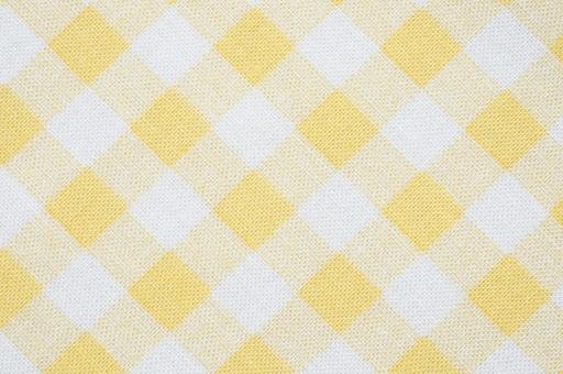 チェック ギンガムチェック しろ 白 シロ ホワイト 模様 布 織物 生地 綿 木綿 背景 背景素材 バック 格子 バックグラウンド テーブルクロス 素材 テクスチャ テクスチャー 壁紙 布地 織り 織り目 テキスタイル 全面 キイロ 黄色 きいろ イエロー ファブリック