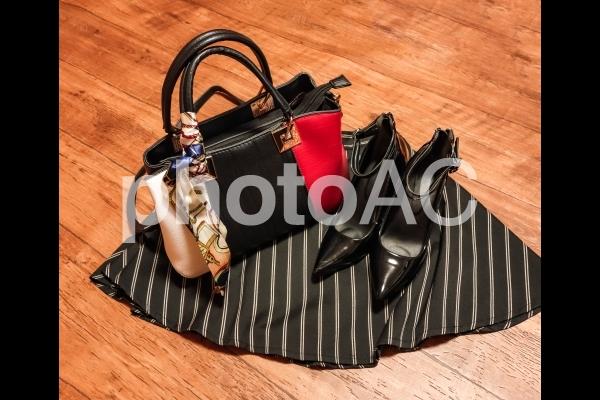 レディース ファッションイメージ バッグと靴の写真