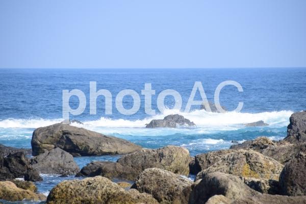 海岸の波の写真