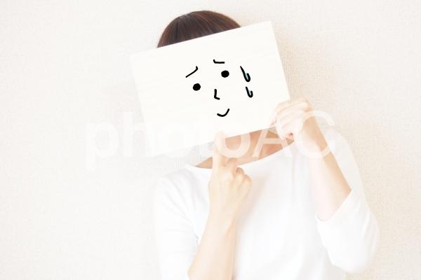 顔とポーズ16(うーん)の写真
