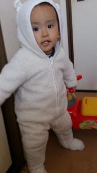 赤ちゃん よちよち あんよ 1歳 着ぐるみ 冬 たっち