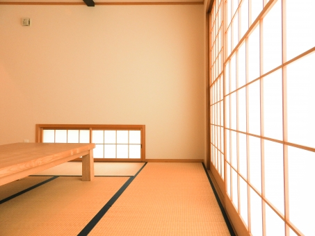 和室 畳 タタミ たたみ 和風 和 家 住宅 日本 japan 机 障子 横