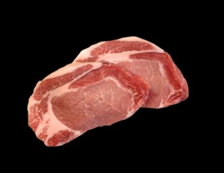 豚肉 ぶた肉 ブタ肉 ロース 肉 肉類 肉料理 食品 食材 食卓 食事 料理 調理 gourmet グルメ 食料品 食糧 食料 生鮮食料品 生鮮食品 黒バック 型抜き 赤身 脂身