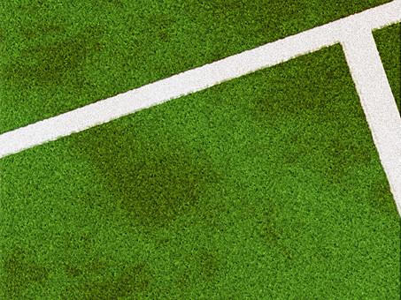 地面 大地 芝生 天然芝 人工芝 芝 緑色 緑 一面 前面 背景 植物 葉 草 グラウンド 広場 フィールド バックグラウンド 背景素材 テクスチャ テクスチャー 模様 パターン 単色 自然 草葉 俯瞰 コピースペース スポーツ ライン 線 運動