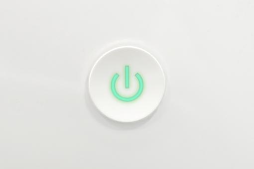 起動 ボタン 再起動 スイッチ 電源 スタート 長押し パソコン コンピュータ PC Mac マッキントッシュ Windows エメラルド グリーン