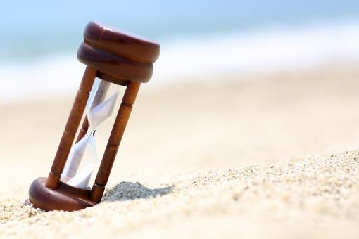 季節 夏 海 風景 景色 海岸 浜辺 海辺 砂浜 砂時計 時計 時刻 時 時間