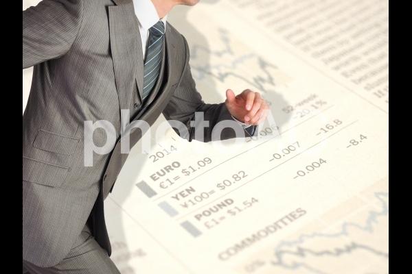 ビジネスマン【走るビジネスマン】の写真