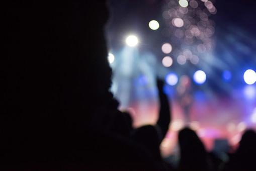 クラブ ライブ LIVE コンサート DJ 演奏会 音楽会 リサイタル ナイトクラブ キャバレー フロアショー 講話 講義 演説 観客 観衆 見物人 観覧者 聴衆 オーディエンス ギャラリー 立ち見客 客 お客さん 会場 入館者 バンド 音楽 楽器 楽曲 ミュージック 歌 曲 唄 歌唱 ステージ 音響 サウンド 公演 人 歓声 ライト 照明 手  アップ ライトアップ 冬 真冬 クリスマス 外 野外 帽子 ぼやける