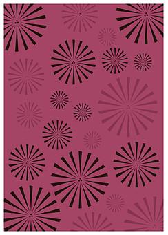 テクスチャ テクスチャー バックグラウンド 背景素材 生地 アップ 模様 正面 布 ポスター グラフィック ポストカード 柄 デザイン 紙 素材 和柄 和 絵 和紙 日本 優美 繊細 全面 和風 花 花火 ピンク 赤 茶色