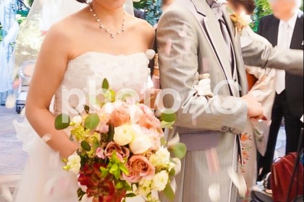 結婚式 フラワーシャワー2の写真